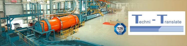 Das Übersetzungsbüro Techni-Translate bietet technische Übersetzungen im Bereich Anlagenbau. Über 50 Sprachen und DTP inhouse.