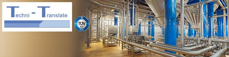 Übersetzung technischer Dokumentationen für den Anlagenbau (z.B. Brauerei) durch erfahrene Ingenieure mit fundierten Fachkenntnissen.